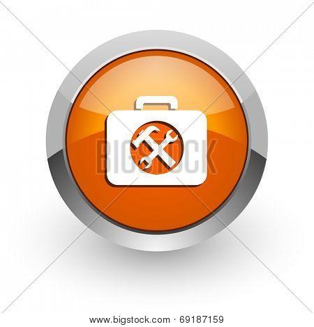 toolkit orange glossy web icon