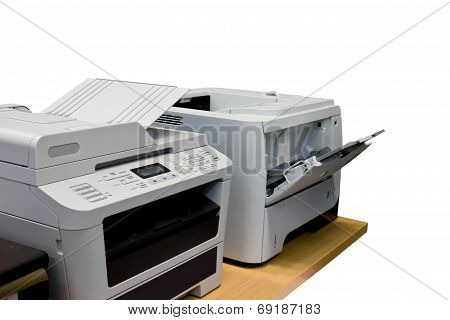 Clipping Path Printer Document In Office Equipment