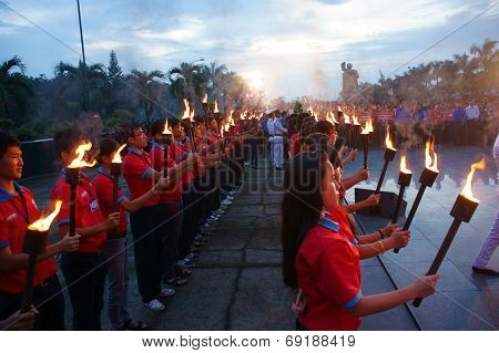 Torch In Ceremony