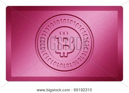 Pink Bitcoin Metal Texture