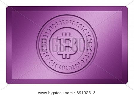 Purple Bitcoin Metal Texture