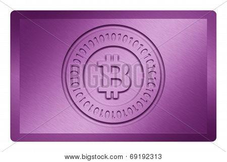 Purple Bitcoin Metal Texture