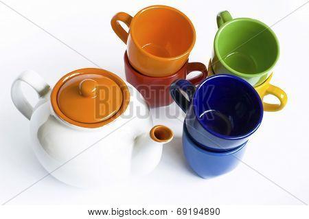 Varicoloured Tableware