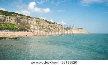 An image of the beach of Hastings England