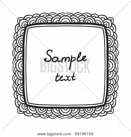 luxury card vintage hand drawing vector