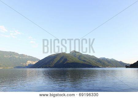 lugano lake landscape