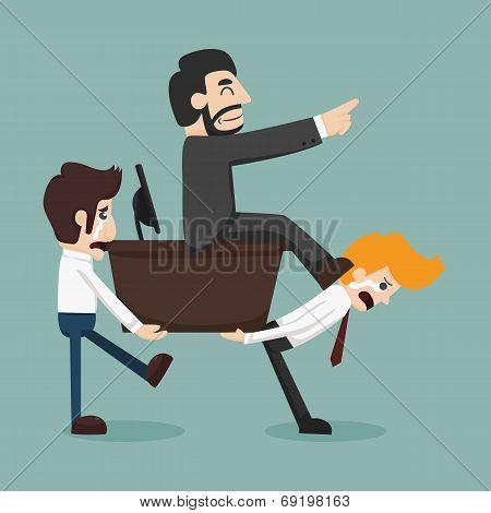 Businessman Carrying Boss