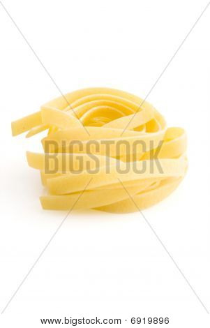 Row Dry Nest Pasta On White