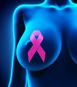 picture of mammogram  - Breast Cancer Ribbon Symbol Illustration - JPG
