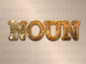 pic of nouns  - Noun concept in metal letters on word background - JPG