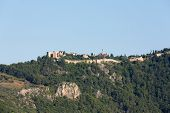 image of cleopatra  - castle of Alanya built on rocks and beach of Cleopatra Antalya Turkey - JPG