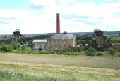 stock photo of collier  - A View over a Disused Coal Mine Site - JPG
