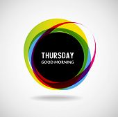 image of weekdays  - Good Morning  Thursday - JPG