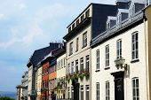 picture of row houses  - Row of houses in Old Quebec city Canada - JPG