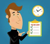 foto of reminder  - List to do important tasks priority reminder done background with check boxes schedule abstract vector illustration - JPG