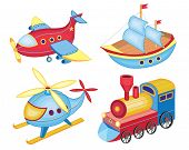 picture of sailfish  - set of transport toys  - JPG