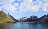 foto of lofoten  - Mountains of the Lofoten Island in Northern Norway - JPG