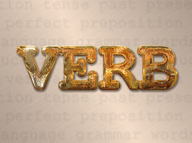 picture of verbs  - Verb action concept in metal letters on word background - JPG