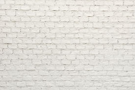 stock photo of arriere-plan  - Close Up Of White Brick Wall Stock - JPG