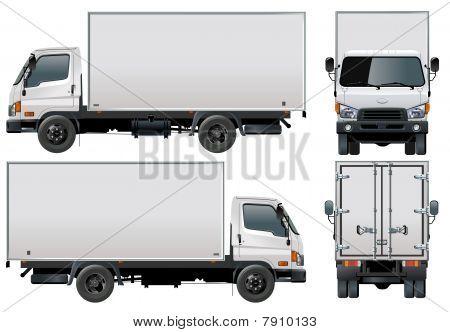 Vektor-Lieferung / Cargo LKW