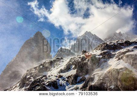 Snow Blown Peaks