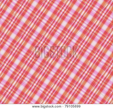 Seamless Pink, yellow White Plaid