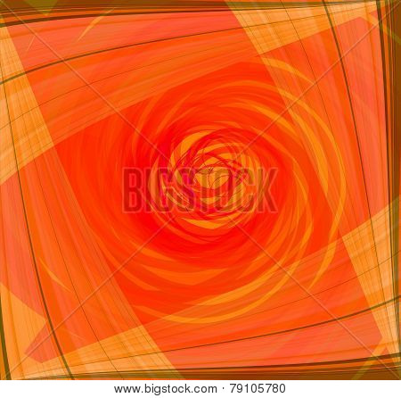 Twist Abstract orange background