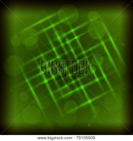 Green light effect background