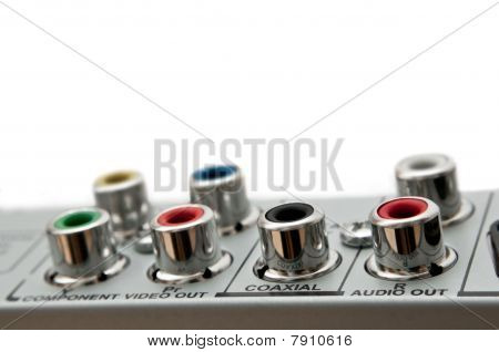 Audio Visual Sockets.