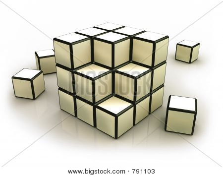 Deconstructed Cube