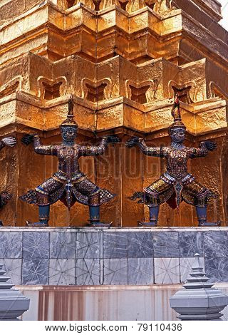 Demon statue at the Grand Palace