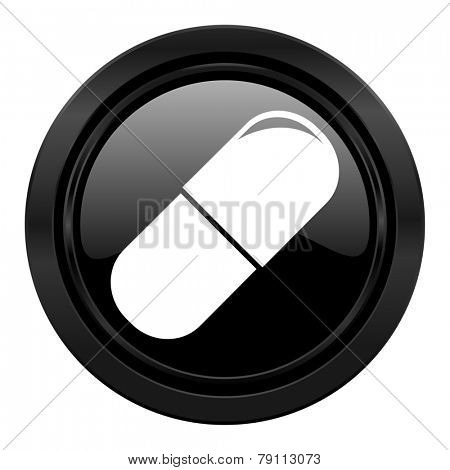 drugs black icon medical sign