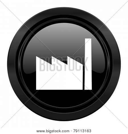 factory black icon industry sign manufacture symbol