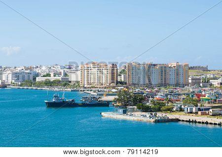 Boats On Coast Of Puerto Rico