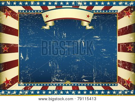 Horizontal grunge american. An american vintage horizontal background for a certificate