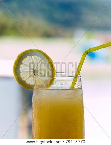 Real Lemonade Shows Tropical Summertime And Homemade