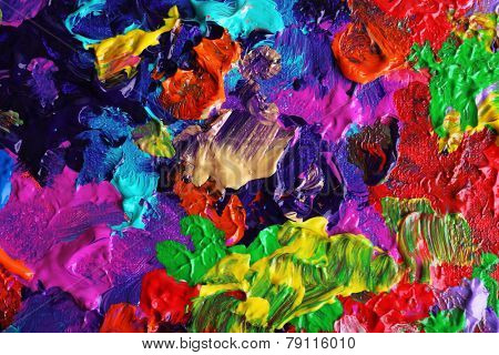 Colorful abstract painted background