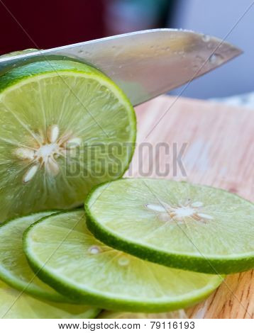 Lime Slices Means Fruit Tropical And Sliced