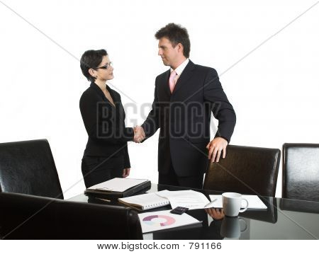 Business deal - isolated