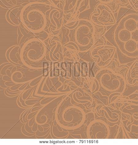 Beige floral pattern