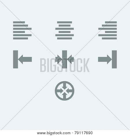 Alignment Icon Set