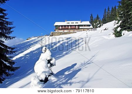 Winter At Mountain Chalet