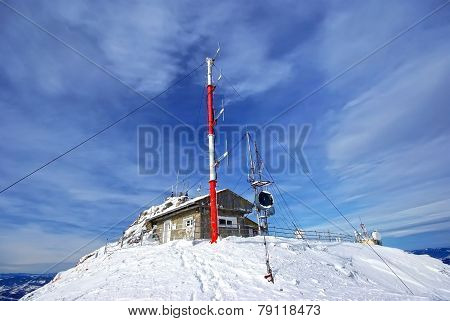 Weather Station On Mountain Top