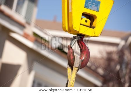 Yellow Crane Head With Red Hook