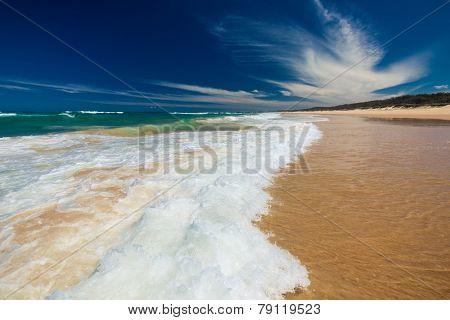 Sunshine Coast Beach north of Caloundra in Australia