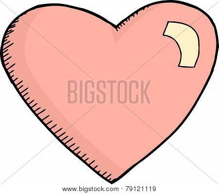 Single Pink Heart