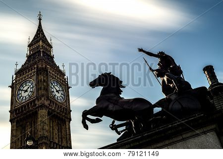 Big Ben at the Palace of Westminster in London