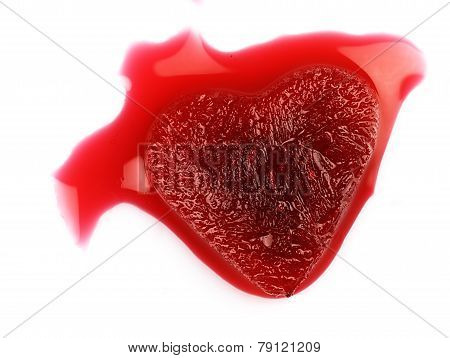 Red Heart-shaped Ice In The Blood.