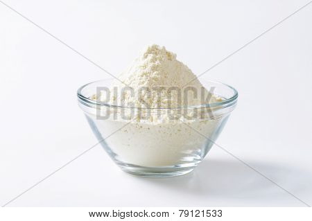 Bowl of finely ground flour