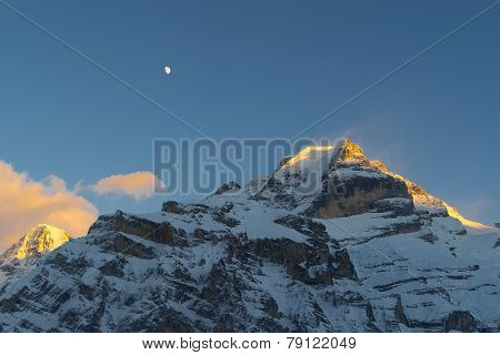 Sunset at Jungfrau Swissalps